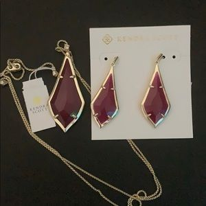 Kendra Scott Olivia Necklace and Earrings Set